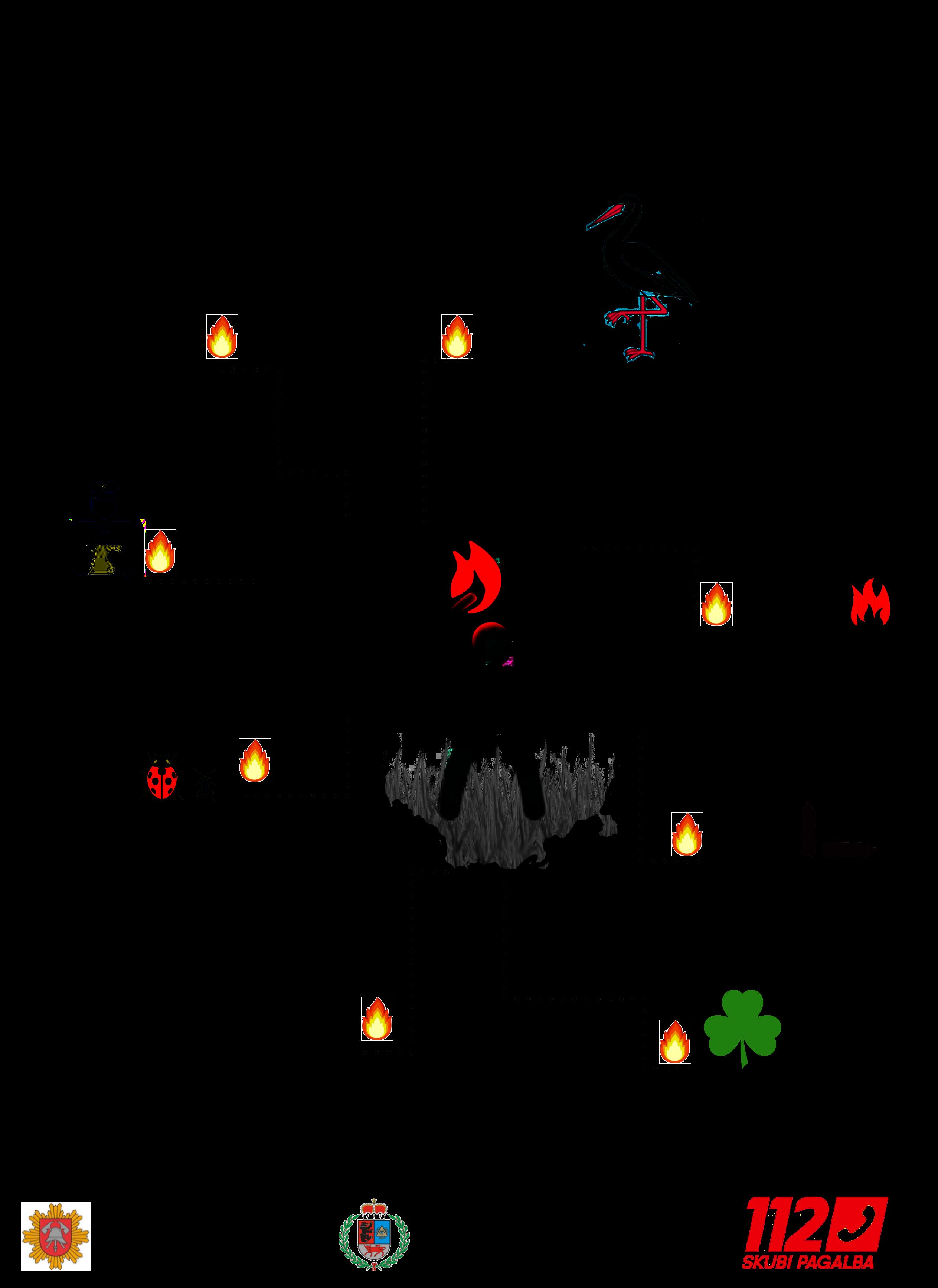 plakatas dėl žolės deginimo